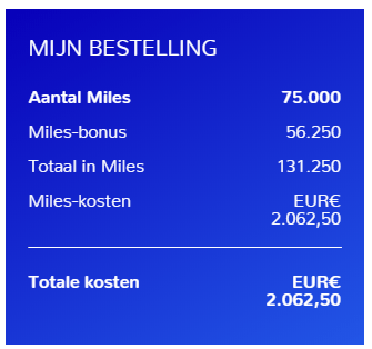 Extra Flying Blue Miles