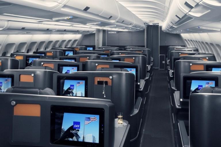 SAS Business class cabine (Bron: SAS)