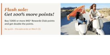 Flash sale IHG Rewards Club met 100% bonus