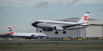 Nog meer 'old school' livery British Airways de lucht in