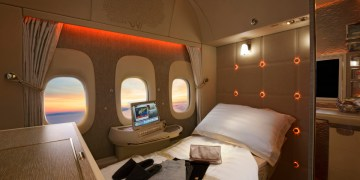 Emirates First Class full flat bed (Bron: Emirates)