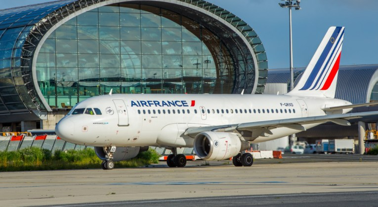 Airbus A319 van Air France op de luchthaven van Parijs (CDG) (Bron: Air France)