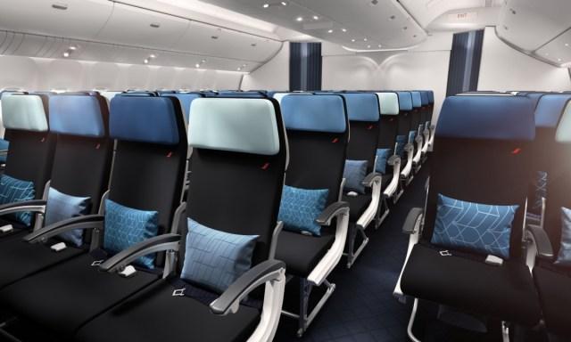 Nieuwe Economy cabine aan boord van de Air France Boeing 777-300 (Bron: Air France)