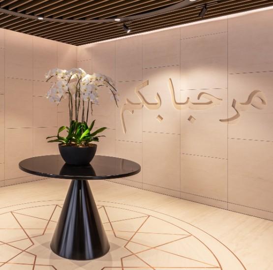 Qatar airways Premium Lounge Singapore binnen
