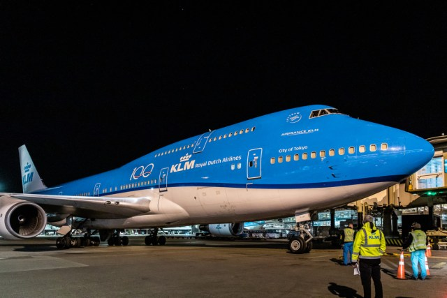 Boeing 747 van KLM die nu ingezet wordt als vrachttoestel (Bron: KLM)