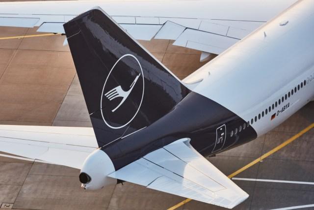 Staart van een Boeing 747-800 van Lufthansa (Bron: Lufthansa)