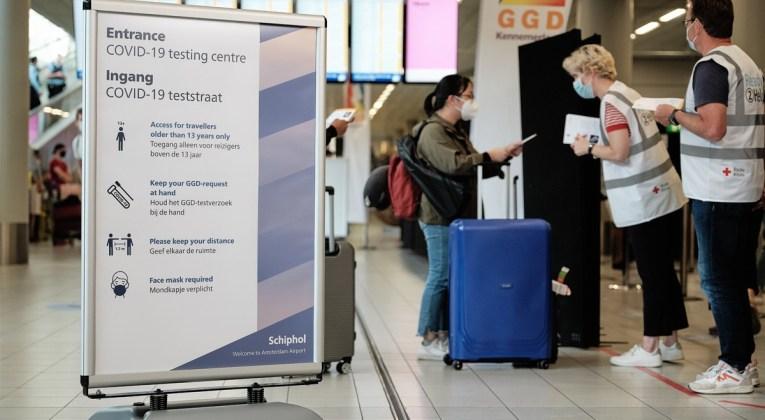 Geen heropening van de Corona teststraat Schiphol