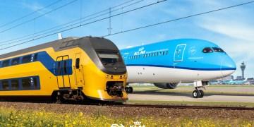 KLM wil trein als alternatief voor korte vluchten (Bron: KLM)