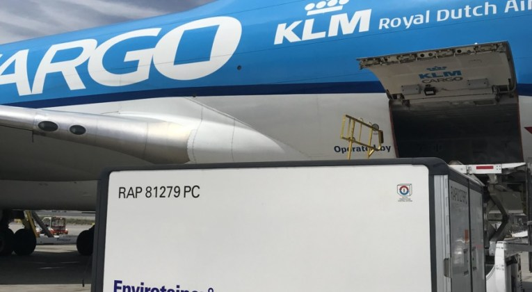 Air France KLM Martinair Cargo Boeing 747 toestel vervoert coronavaccins (Bron: KLM)