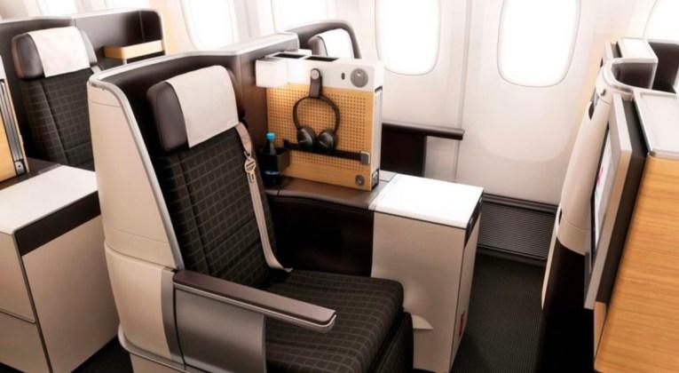 SWISS Business Class cabine aan boord van de Boeing 777 (Bron: SWISS)
