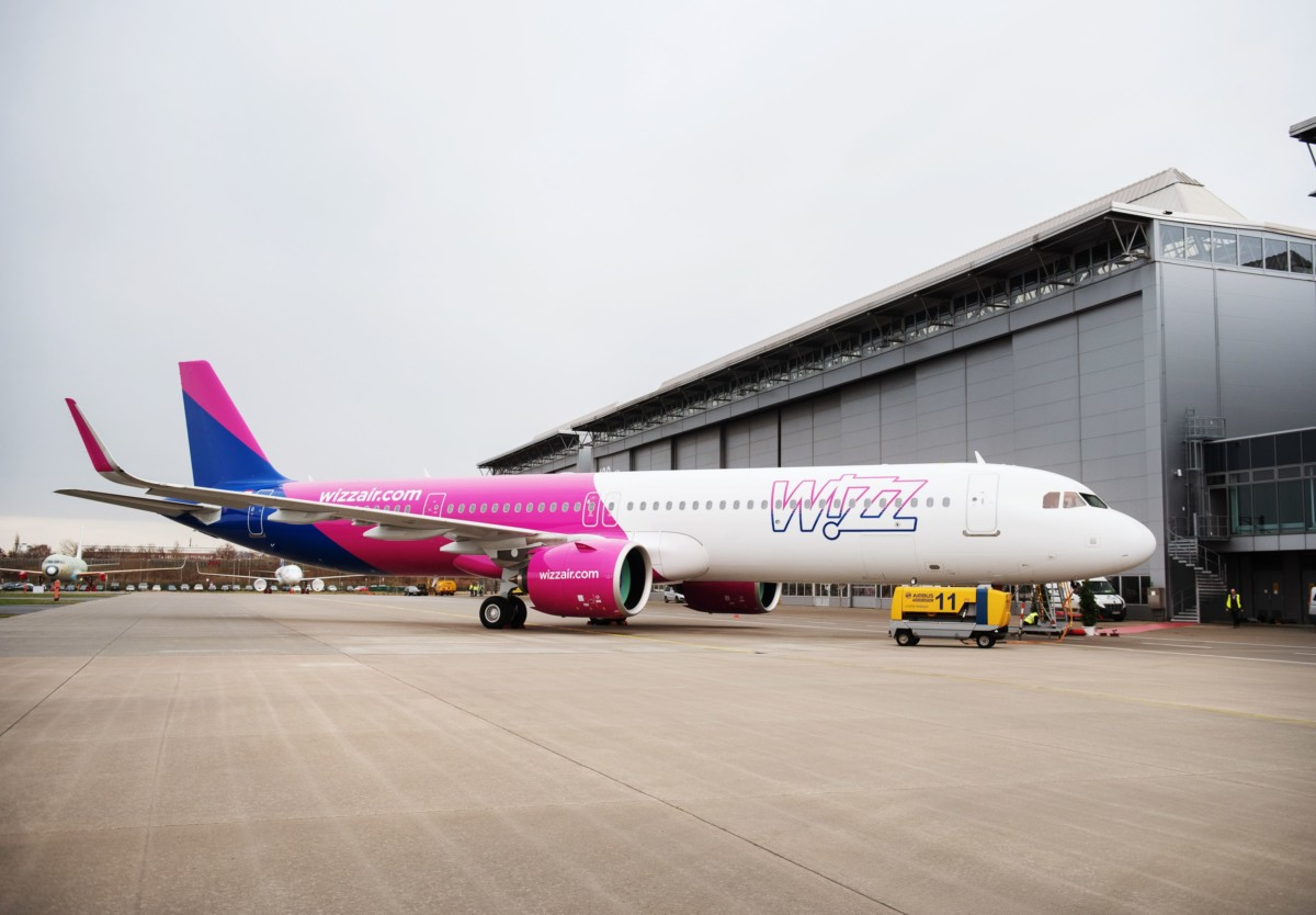 Airbus A321neo in Wizz Air livery (Bron: Airbus)