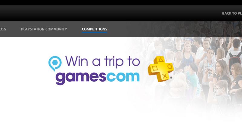 Sonys gamescom Gewinnspielseite
