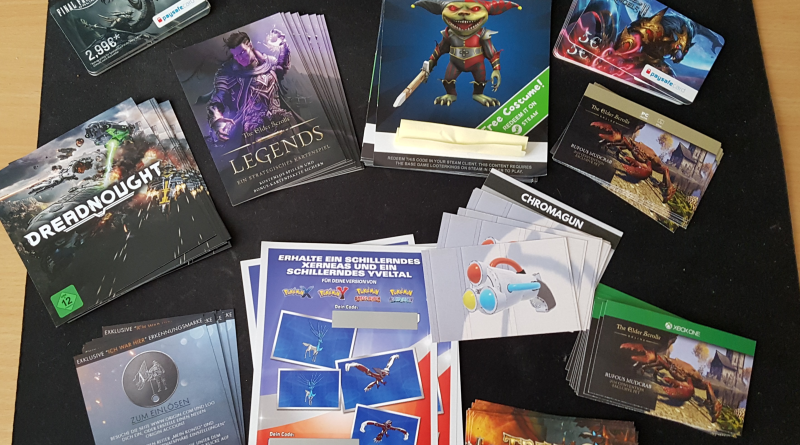 Gamescom 2016 digitale Goodie Codes