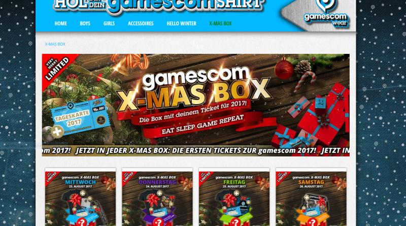gamescomwear X-Mas Pack 2017 Übersicht