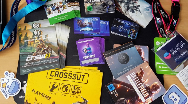 insidegamescom.de Digital Goodie Pack 2017 mit 9 verschiedenen Goodies