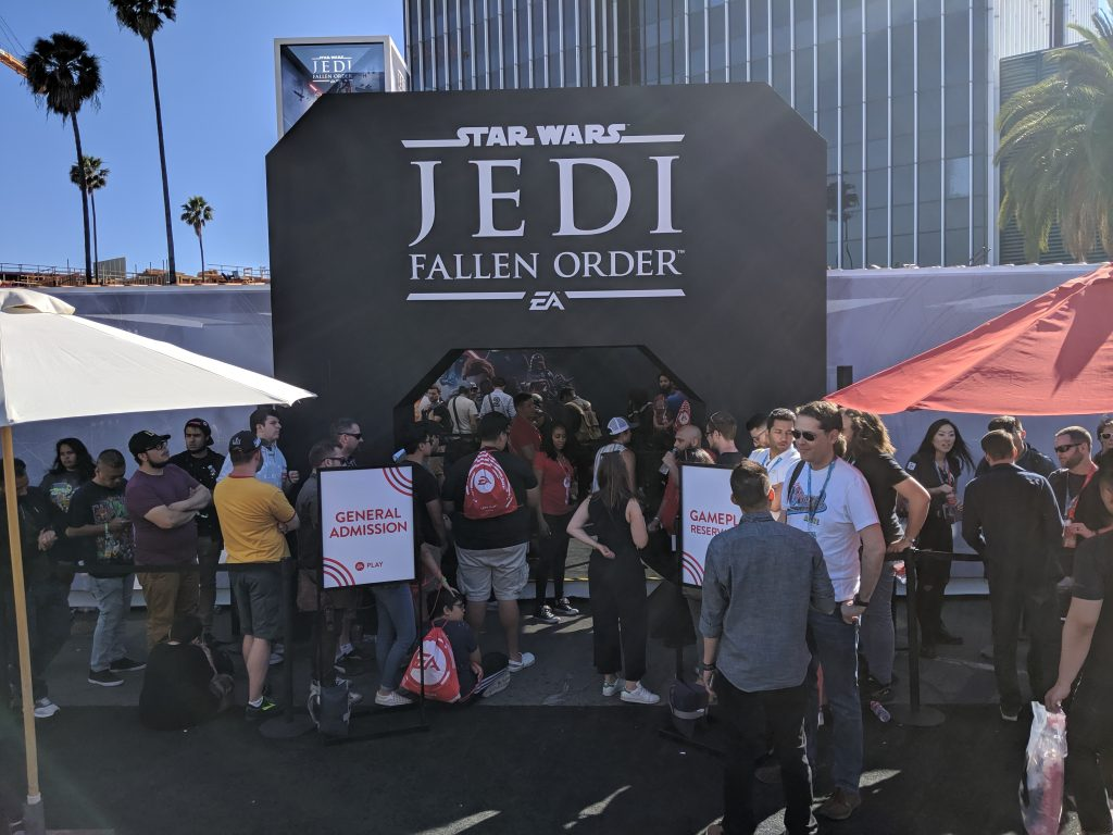 Star Wars Jedi: Fallen Order booth and line