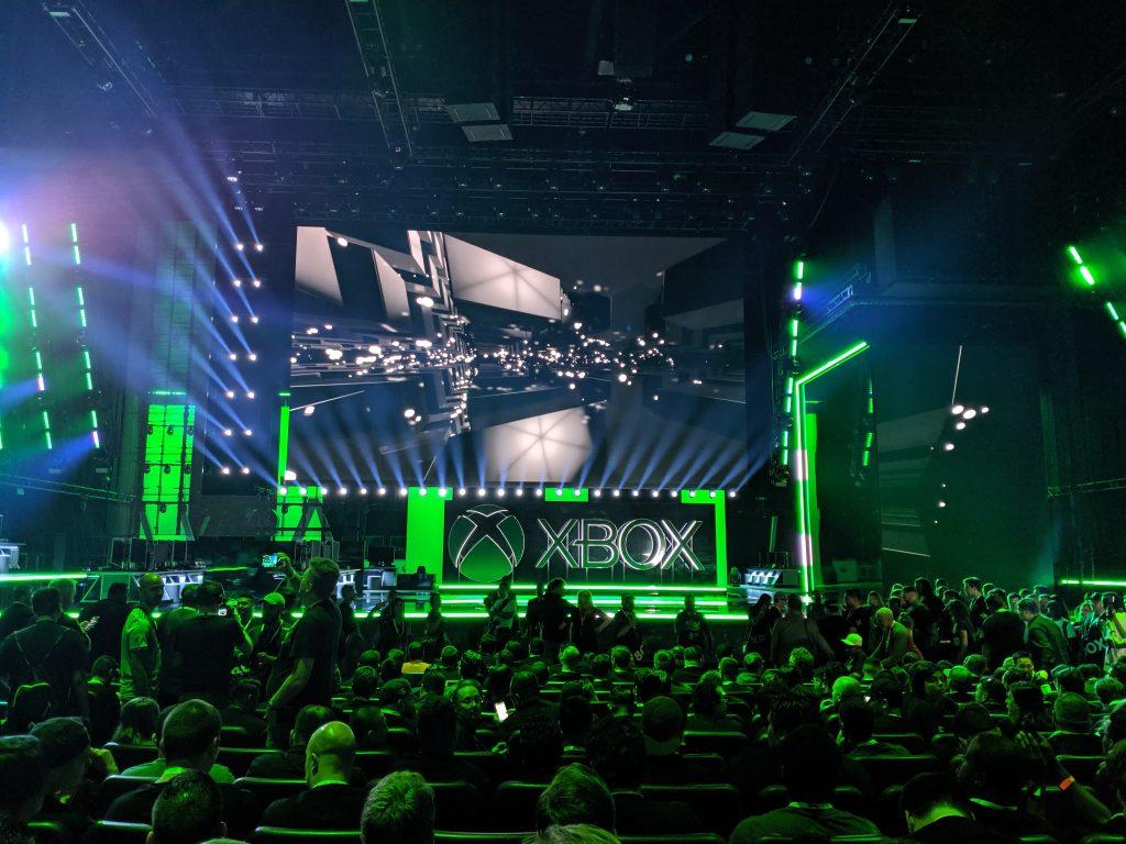 Blick auf die Xbox Bühne