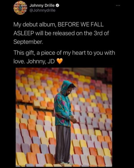 Album-BEFORE WE FALL Asleep-jonnydrille