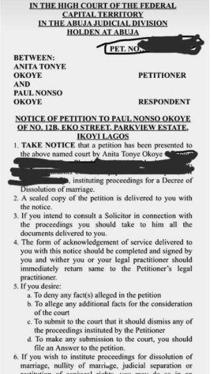 Paul Okoye's wife, Anita Okoye, files for divorce after 7 years of marriage