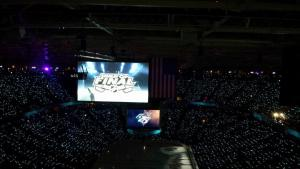 Game 4 between the Sharks and Penguins was underway.