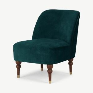 Harpo Accent Armchair, Nile Blue Velvet