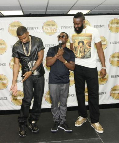 Trey-Songz-Kevin-Hart-and-James-Harden-Backstage-Essence-Music-Fest