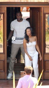 Semi-Exclusive... Newlyweds LeBron James & Savannah Brinson Leaving The Grand Del Mar Hotel
