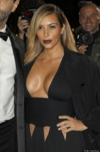 Kimberly Kardashian at the 'Mademoiselle C' premiere in Paris