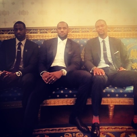 Dwyane-Wade-LeBron-James-Chris-Bosh-Miami-Heat-White-House-2014-7