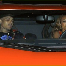 Chris Brown gets a helping hand as he leaves BET Awards Party with Karrueche Tran