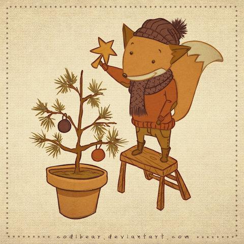 christmas_fox_by_codibear-d5o0szu