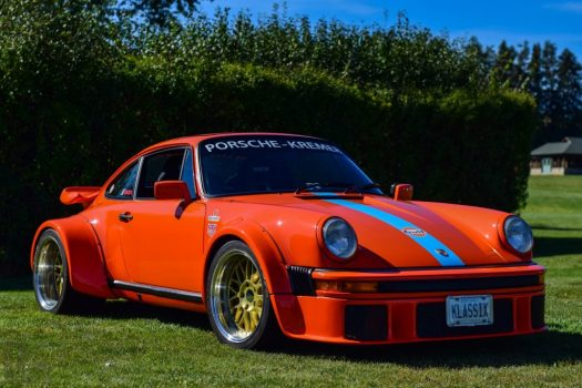 Porsche 934 Tribute car with Gulf Racing livery.