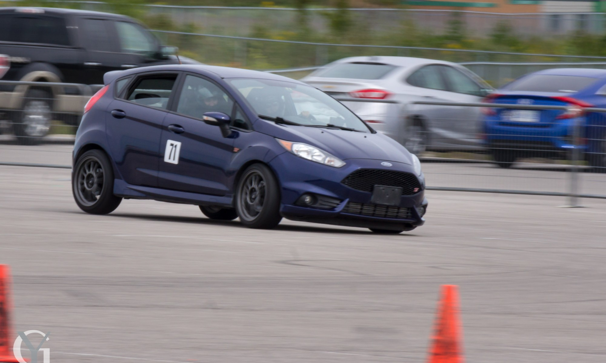 The Inside Line Auto Ford Fiesta ST at the 2018 TLMC Autocross Finale.