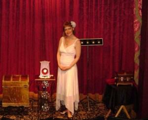Inside Magic Image of Lisa Cousins in the Magic Castle's Parlor of Prestidigitation
