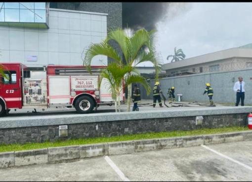 Fire in access bank lagos