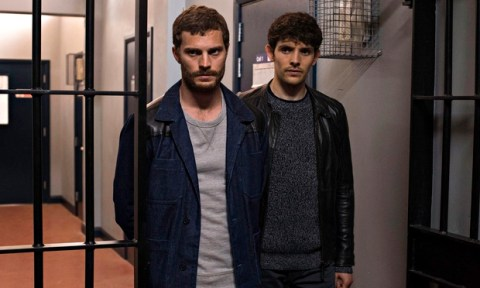 Paul Spector (Jamie Dornan) and DS Tom Anderson (Colin Morgan) in the finale of BBC2's The Fall