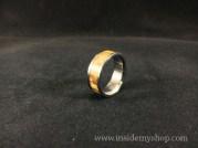Zebra wood & titanium ring