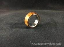 Iron wood Titanium ring