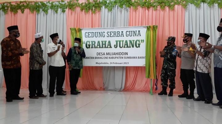 Fud Syaifuddin, Resmikan Gedung Serba Guna Desa Mujahidin Brang Ene