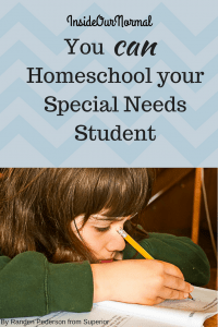 Homeschooling Your Special Needs Student by Inside Our Normal