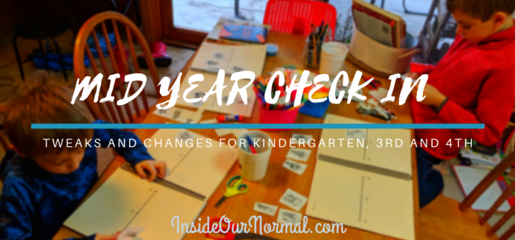 Mid-year changes for 4th, 3rd and Kindergarten