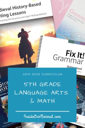 5th Grade Curriculum Choices for Lynn IEW Math U See
