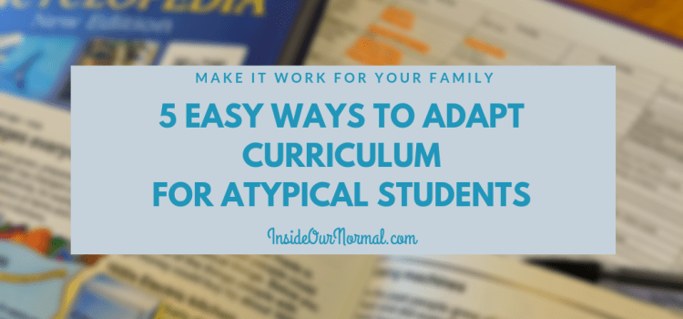 5 Easy ways to adapt curriculum