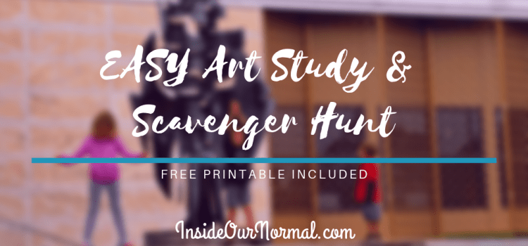 Easy Art Appreciation and Museum Scavenger Hunt