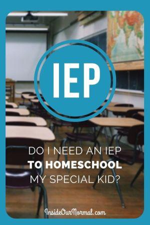 Do you need an IEP as a Homeschooler