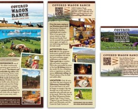 Covered Wagon Ranch - print marketing