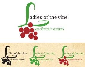 Von Stiehl Winery Ladies of the Vine logo design