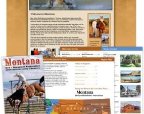 Montana Bed & Breakfast Association print design
