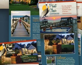 Point Clear Cottages print design