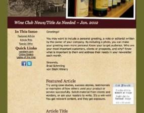 Von Stiehl Winery - e-newsletter